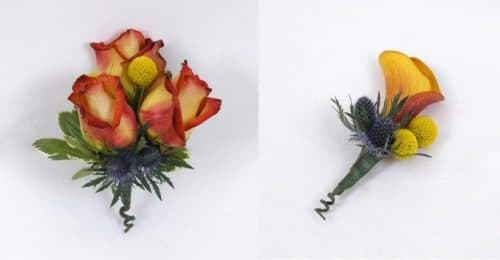 Earth Tone Corsage and Boutonniere
