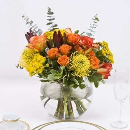 Earth Tone table Centerpieces