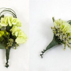 Green Corsage and Boutonniere