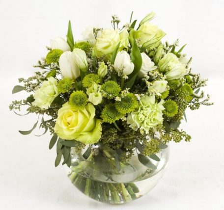 6 green and white flower table centerpieces bulk flowers j r roses green and white centerpieces mightylinksfo