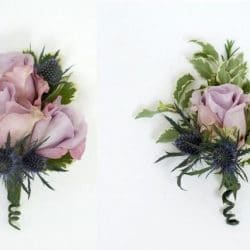 Lavender Corsage and Boutonniere