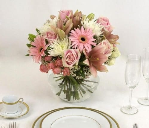 Pink table Centerpiece