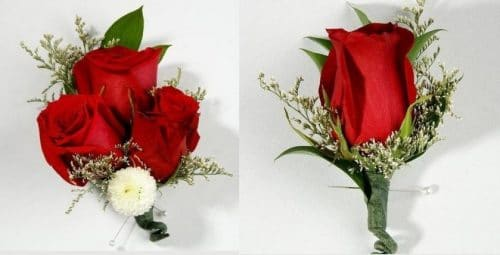 Red Corsage and Boutonniere 24 PCS