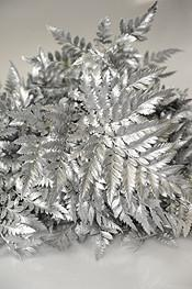 Silver Painted Leather Leaf Foliage