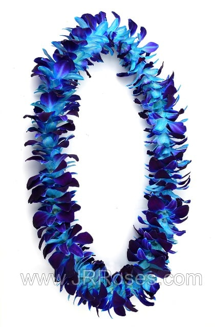 Blue Orchid Leis