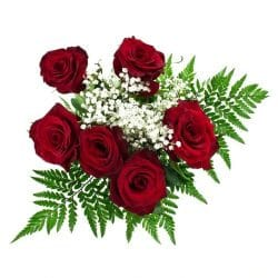 half-dozen-red-rose-bouquet-top-view