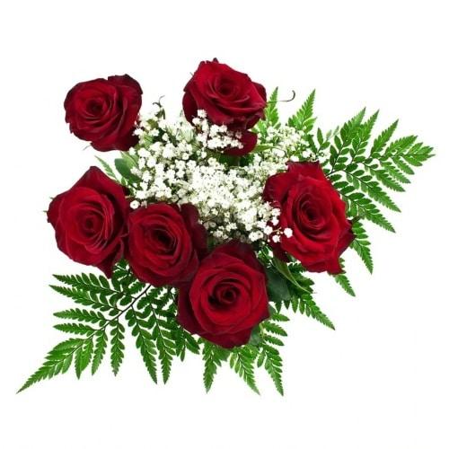 half-dozen-red-rose-bouquet-top-view