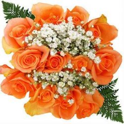 orange-rose-bouquet