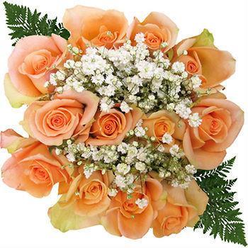 peach rose bouquet