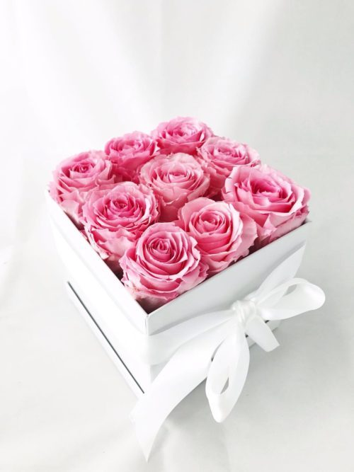 pink preserved roses deluxe gift box