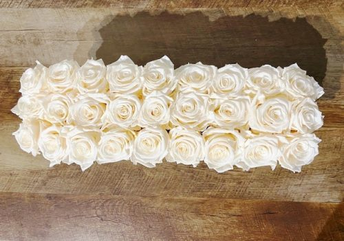 preserve roses in glass vase