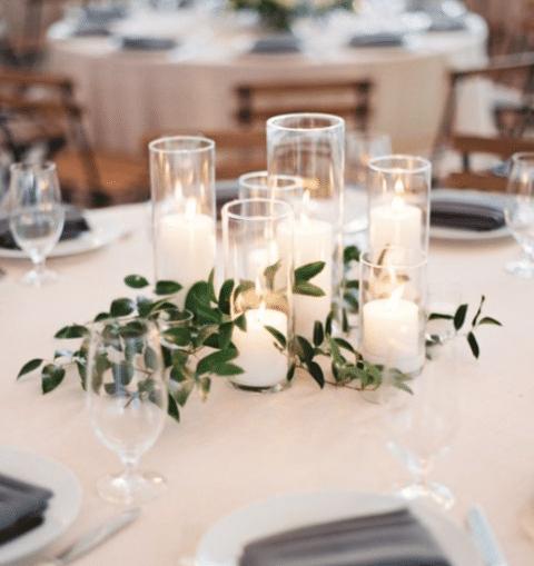 italian ruscus romantic table decor